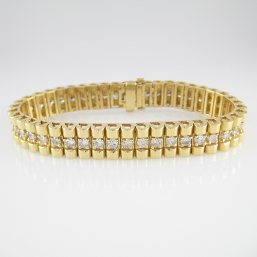14K Ladies Diamond Tennis Bracelet
